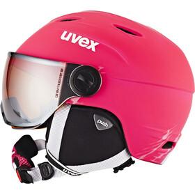 UVEX Junior Visor Pro casco Bambino, Pink Mat